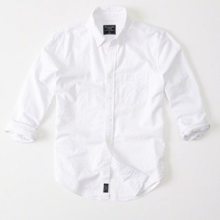 Abercrombie & Fitch シャツ Abercrombie & Fitch  ホワイト 白ベーシックシャツ