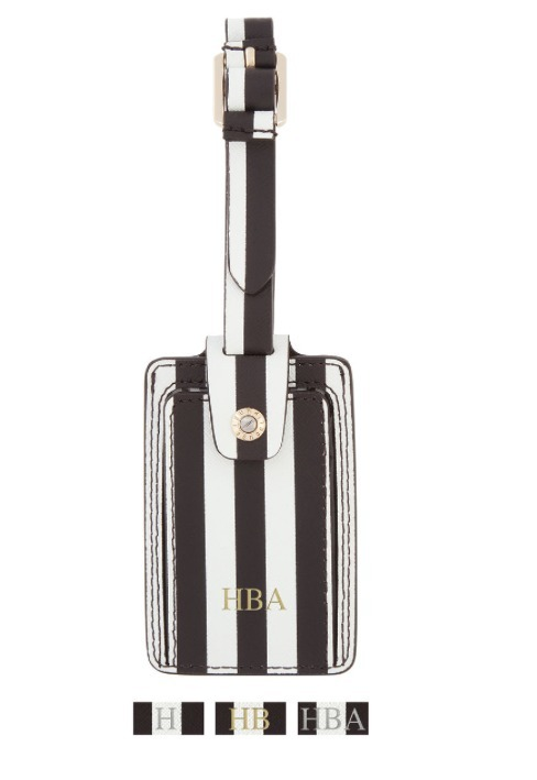 HENRI BENDEL*CENTENNIAL STRIPE BAG TAG