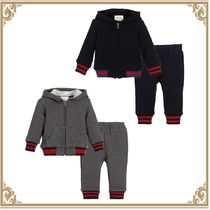 17SS【GUCCI】6M-3Y コットンジャージー上下セット 2color