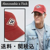 Abercrombie & Fitch Logo ベースボール キャップ 赤