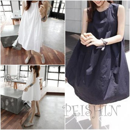 So-called soft A line dress cute fluffy dress loose