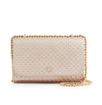 【Tory Burch】MARION EMBOSSED METALLIC SHRUNKEN SHOULDER BAG