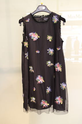 FORMICA SPORTMAX CODE tulle floral embroidered dress