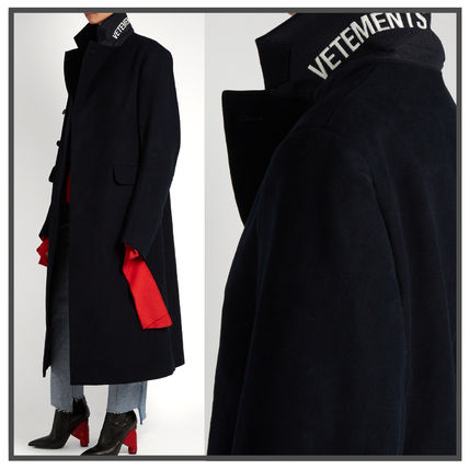 VETEMENTS DOUBLE BREASTED cotton coat