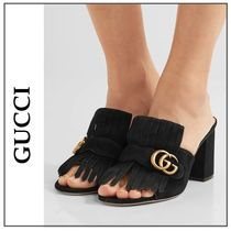 2017SS新作◆GUCCI◇Marmont fringed suede mules サンダル