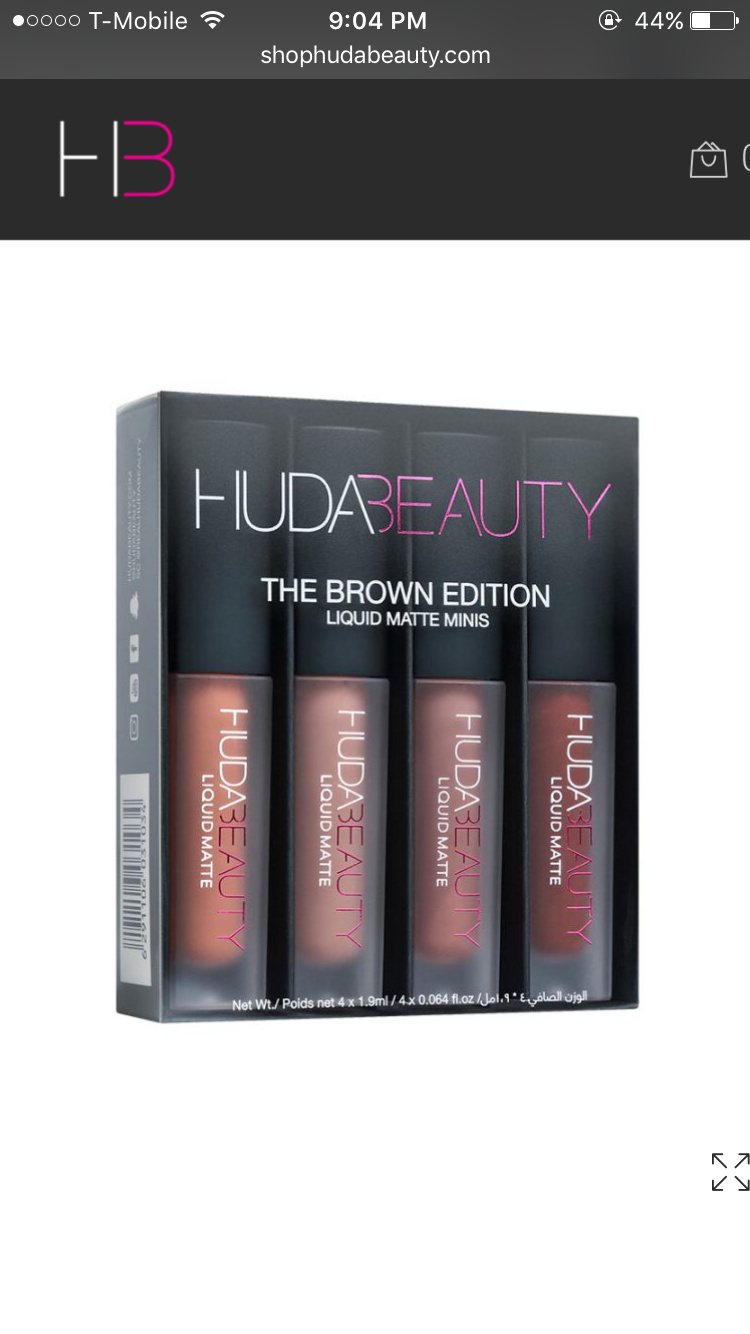HUDA BEAUTY☆Liquid Matte Minis Brown Edition