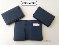 Coach(コーチ) カードケース・名刺入れ 即発!COACH★ card wallet in crossgrain leather 75064*レア品