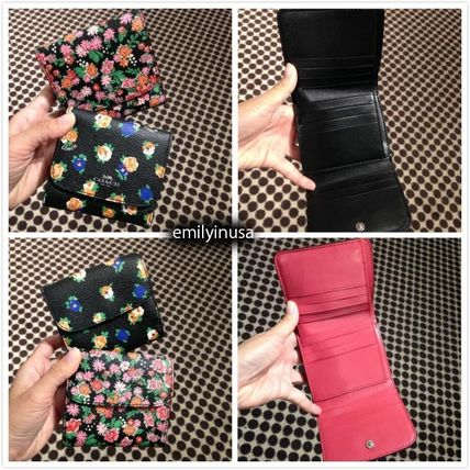 COACH mini bifold wallet F57976 * floral