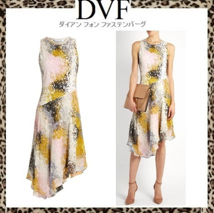 Sale DVF silk Jersey + chiffon dress KLARRA