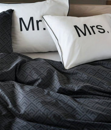 H & M HOME gifts too Mr &Mrs pillow case