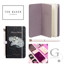 TED BAKER(テッドベイカー ) ノート 【送/関込】TED BAKER A6ペン付ミニノート  ビジュー ユキヒョウ