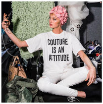 Moschino(モスキーノ ) Tシャツ・カットソー FW17 MOSCHINO couture is an attitude Tシャツ white