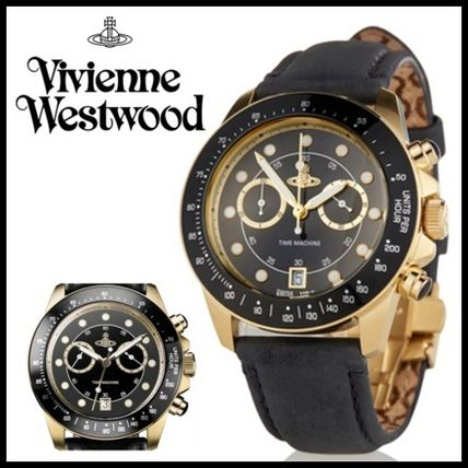 追跡送料込♪大人気★Vivienne Westwood★BLACK BARBICAN WATCH