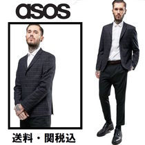 ASOS(エイソス) ジャケットその他 ASOS スリムブレザー In チェック With Pocket Detail