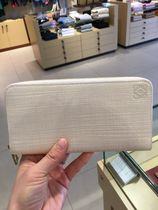 LOEWE Outlet セール Zip Around Wallet milk★ロエベ