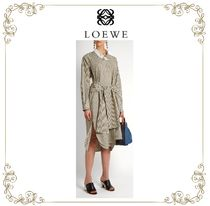 【17SS】★LOEWE★Asymmetric striped cotton shirtdress