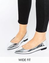 ASOS(エイソス) フラットシューズ 春☆ASOS LACEY Wide Fit Pointed Ballet Flat フラットシューズ