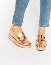 ASOS(エイソス) フラットシューズ 春☆ASOS MORE TIME Flatform Loafers フラットシューズ