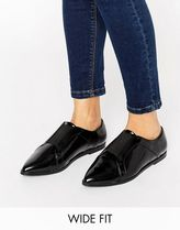 ASOS(エイソス) フラットシューズ 春☆ASOS MIGHTY Wide Fit Pointed Flat Shoes フラットシューズ