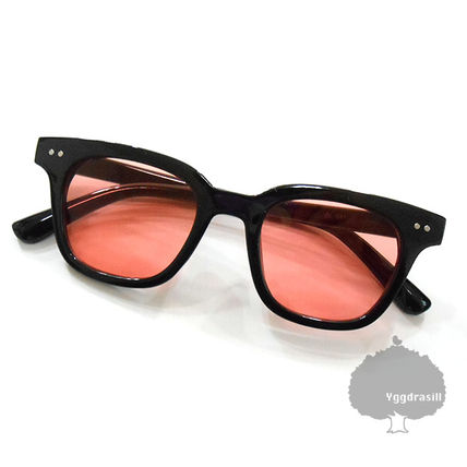 YGG lens sunglasses G-DRAGON JI-young black frame / Red