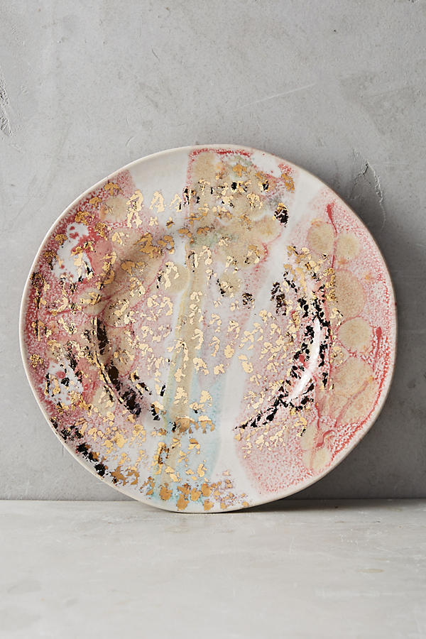 17SS☆最安値*関送込【Anthro】Gold Accent Dessert Plate 4枚