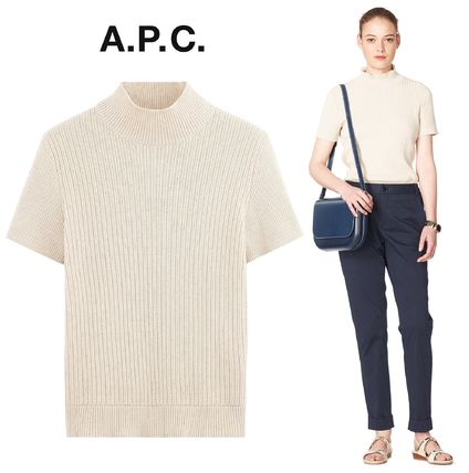 France from A.P.C. popular Mina sweater Coton & linen PuTTY
