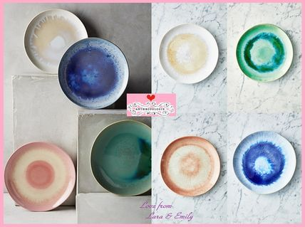 17th SS * about Anthro Mineral Dessert Plate 4 pieces
