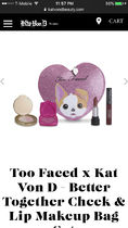 Kat Von D(キャットヴォンディー) メイク小物その他 TooFaced★KatVonD Better Together Cheek & Lip Makeup Bag Set