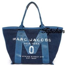 NEW!関税込国内送 Marc Jacobs New Logo Small Denim Tote