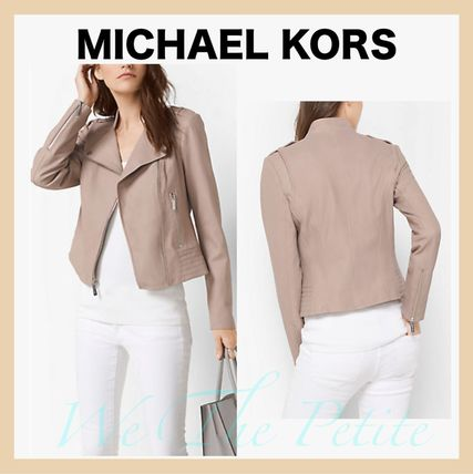 popular color Michael Kors riders leather jacket