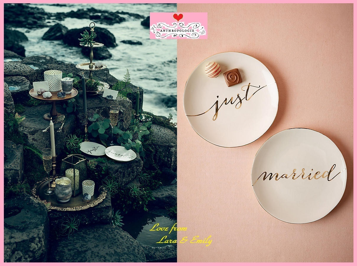 17SS☆最安値*関送込【Anthro】Scripted Dessert Plates セット