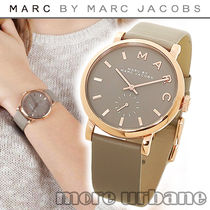 Marc by Marc Jacobs(マークバイマークジェイコブス) アナログ腕時計 SALE◇Marc Jacobs Baker Leather Strap Women's Watch MBM1266