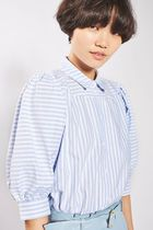《パフ袖がキュート♪》☆TOPSHOP☆Stripe Puff Sleeve Shirt