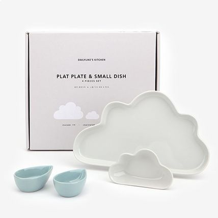 DAILYLIKE cloud plate & raindrop dish (set of 4)