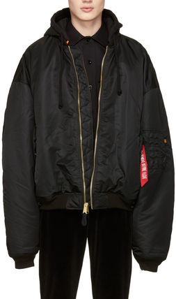 VETEMENTS×Alpha INDUSTRIES 17SS BOMBER Reversible BLACK