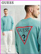 日本未入荷・新作17SS☆GUESS☆Logo Crew Neck Sweatshirt