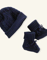 Ralph Lauren(ラルフローレン) ブーツ Cotton Hat & Booties Set