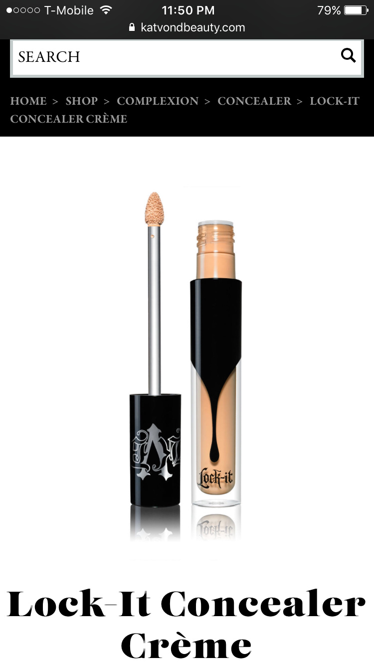 Kat Von D Lock-It Concealer Creme 7 LIGHT - WARM UNDERTONE