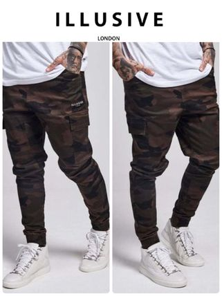 Seki / Illusive London camouflage and cargo Jogger pants