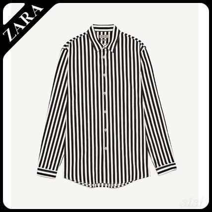 Men's ZARA wide stripe shirt