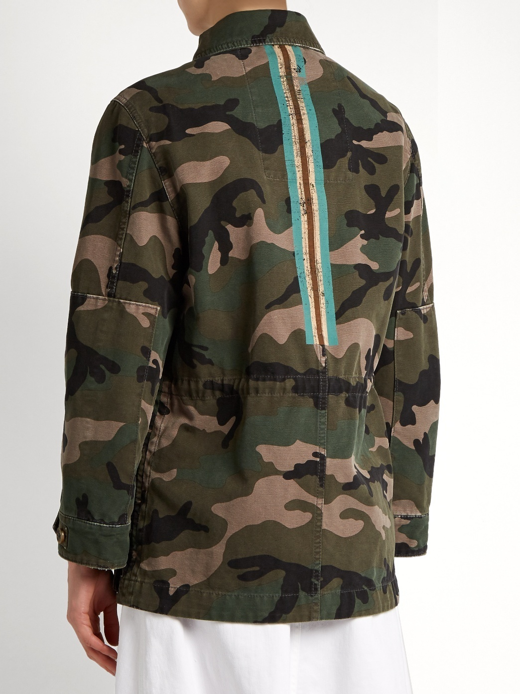 17SS V670 CAMOUFLAGE PRINTED COTTON MILITARY JACKET