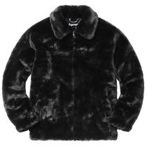 (黒)Supreme FAUX Fur Bomber Jacket