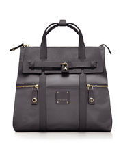 【Henri Bendel】3waysバックパック Dark Grey/Gold ★即発可