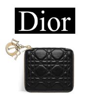 ★Christian Dior★LADY DIOR COMPACT VOYAGEUR ウォレット 黒