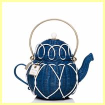 kate spade /カゴバッグ/ down the rabbit hole wicker teapot