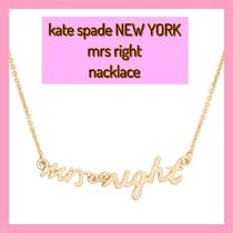 kate spade /ネックレス / say yes Mrs right necklace