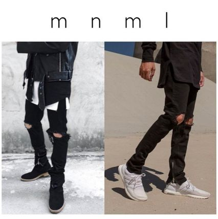 MNML minimalist M1 DENIM black damaged denim