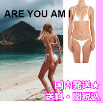 ARE YOU AM I(アーユーアムアイ) ビキニ 送料・関税込♪★ARE YOU AM I★白ワッフル素材ビキニ上下SET★