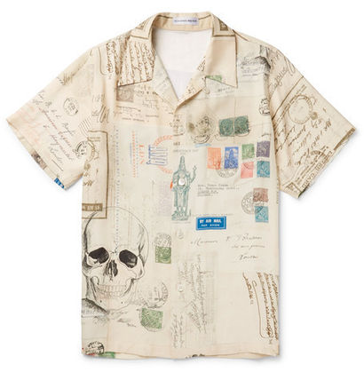 And Alexander McQueen printed Voile shirts