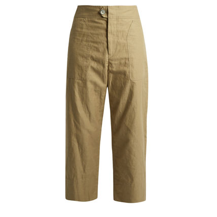 Isabel Marin Sola patch pocket cropped pants